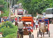 Picture of traditional transportation in Ambositra