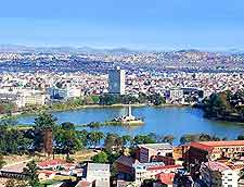 Photo of the Antananarivo cityscape, capital of Madagascar