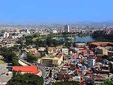 Scenic aerial view of Antsirabe