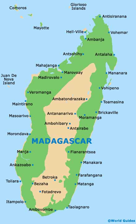 Small Madagascar Map