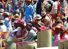 Picture of traditional market traders