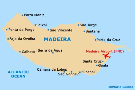 Map Of Madeira Airport FNC Orientation And Maps For FNC Madeira - Portugal map with airports