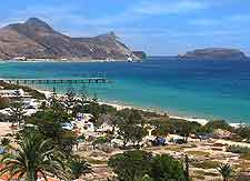 Photograph showing the nearby coastline of Porto Santo