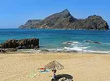 Porto Santo Island photograph, showing sandy beachfront