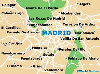 Small Madrid Map
