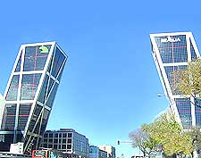 Picture of the contemporary Gate of Europe towers (Puerta de Europa)