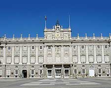 View of the iconic Royal Palace (Palacio Real)