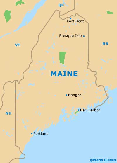 Maps Us Map Maine