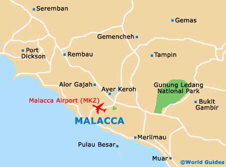 Small Malacca City Map