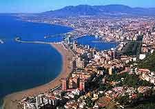 Aerial shot of Malaga