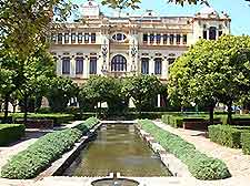 View of the grounds of Malaga's Ayuntamiento