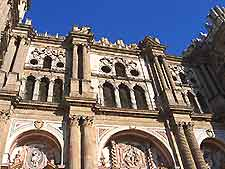Impossing view of Malaga Cathedral