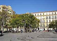 Snapshot of Malaga central square