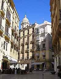 Photograph of a Malaga plaza