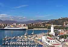 Malaga harbour and marina photograph