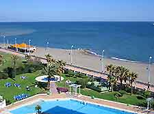 Image of a beach from a Malaga hotels