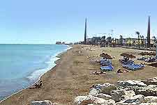 View of Malaga's Playas de La Misericordia