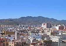 Mountain scenery surrounding Malaga