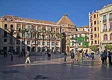 Photo of Malaga's Old Town district Plaza de la Constitucion