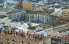 Aerial picture of Plaza de La Merced, Malaga
