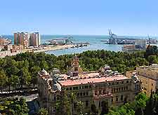 Picture overlooking Malaga port