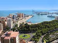 Aerial photo of Malaga port
