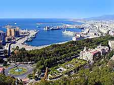 Aerial View of Malaga featuring the port
