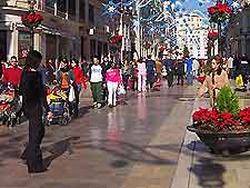Image of a shopping area of Malaga