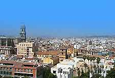 Aerial view of the Malaga cityscape