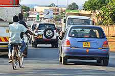 Picture of traffic on Blantyre to Llilongwe road
