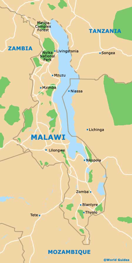 Small Malawi Map