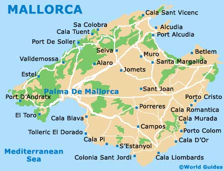 Small Mallorca Map