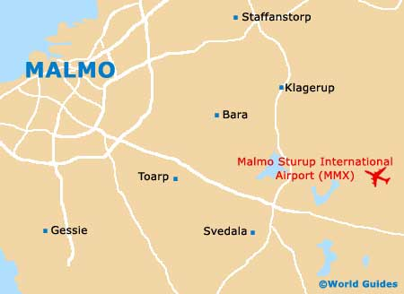 Map Of Malmo Airport MMX Orientation And Maps For MMX Malmo Airport - Sweden map airports
