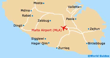 Malta Airport Map