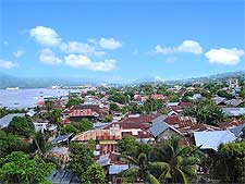 View of the Ternate City scenery