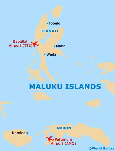 Maluku islands travel guide and tourist information maluku islands small maluku islands map gumiabroncs Gallery