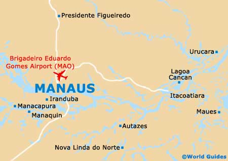 Manaus Maps and Orientation: Manaus, Amazonas, Brazil