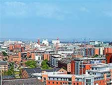 Panorama over the city of Manchester