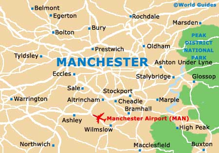 Map Of England Manchester.Manchester Maps And Orientation Greater Manchester England