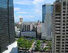 City view, showing high-rise structures