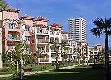Beach resort hotels in Marbella photograph