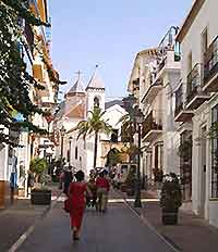 Shopping streets of Marbella photograph