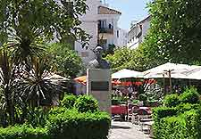 Image of dining in Marbella's Plaza de los Naranjos in the Old Town district