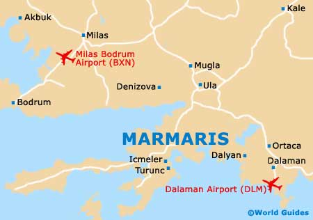Marmaris Maps and Orientation Marmaris Mugla Province Turkey