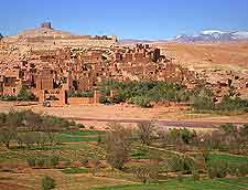 Scenic vista of Ait Benhaddou