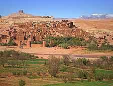 Scenic vista of Ait Benhaddou
