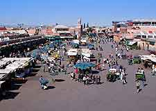 Aerial view of the Djemaa El Fna (Jemaa-el-Fna)