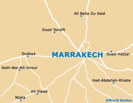 Map of Marrakech