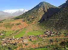 Panoramic picture of the Tizi n'Tichka Pass