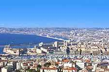Marseille Airport (MRS) Travel and Transport: Aerial city picture